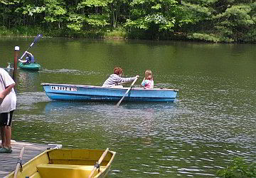 kids in a rowboat